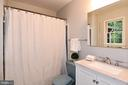 Renovated Master Bath with tub/shower, new vanity - 5024 PORTSMOUTH RD, FAIRFAX