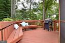 Deck with built-in bench,  ideal for barbecuing - 5024 PORTSMOUTH RD, FAIRFAX