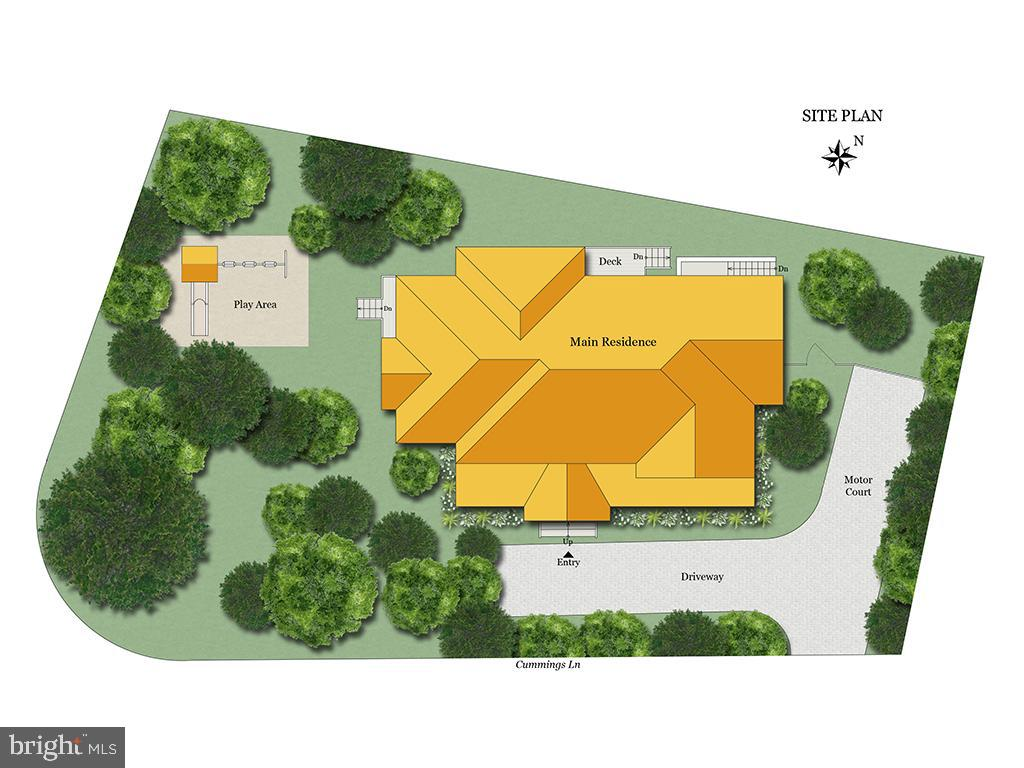 Site Plan - 3521 CUMMINGS LN, CHEVY CHASE