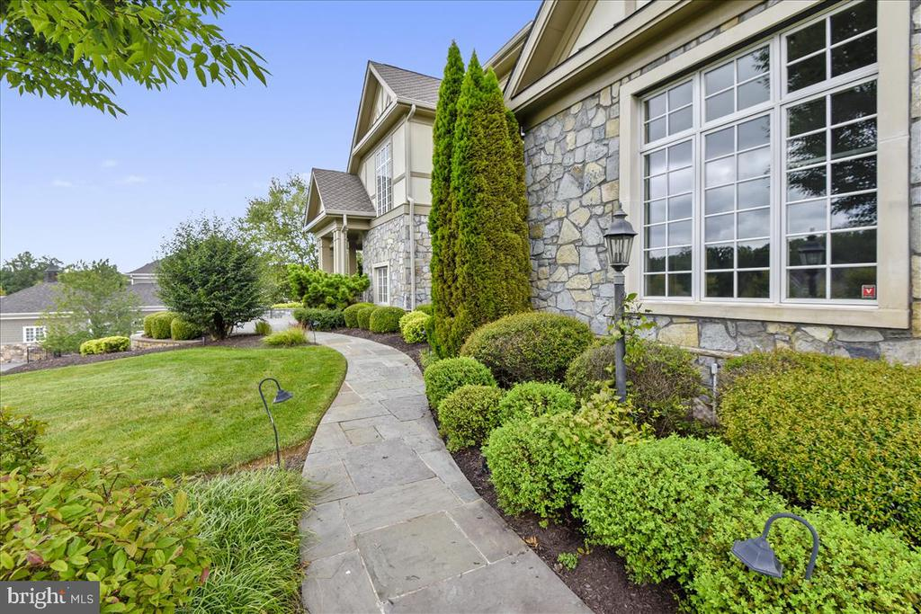 Curved sidewalk to  the front..Feng Shui , yes! - 12056 OPEN RUN RD, ELLICOTT CITY