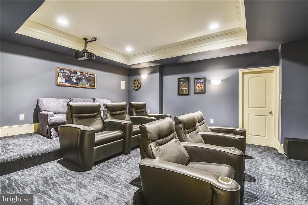 Private theater with seating for a minimum of 9 - 12056 OPEN RUN RD, ELLICOTT CITY