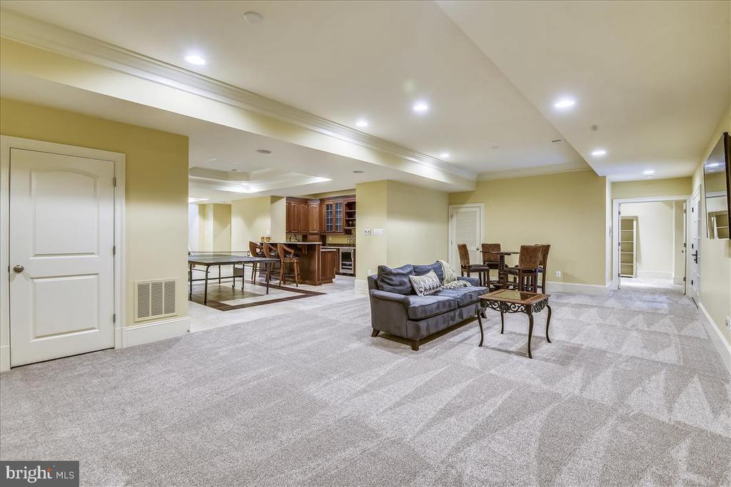 Recessed lighting in the lower level - 12056 OPEN RUN RD, ELLICOTT CITY