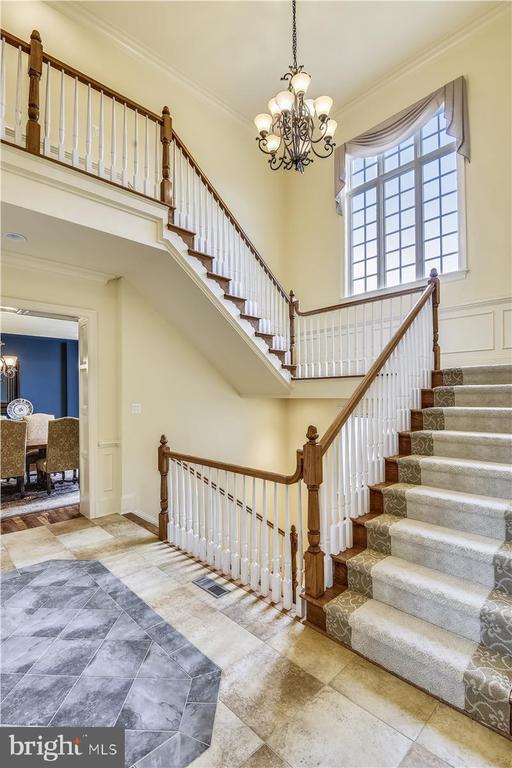 Foyer view of main stair case - 12056 OPEN RUN RD, ELLICOTT CITY