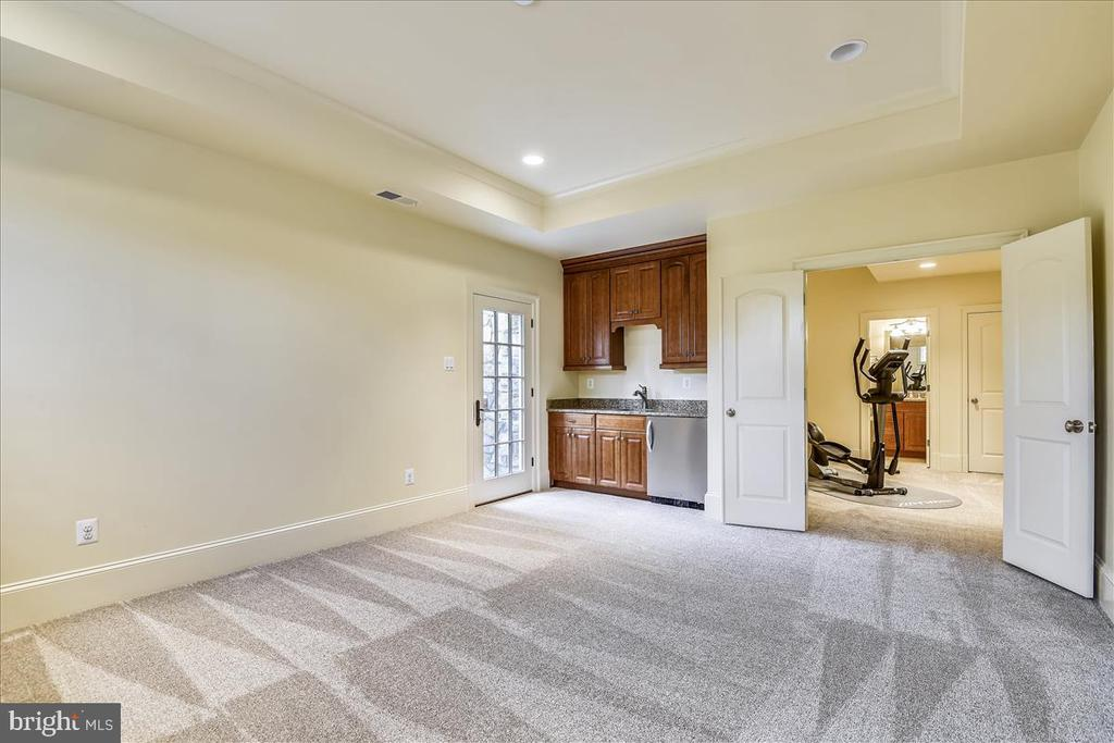 Lower Level First Bedroom with wet bar - 12056 OPEN RUN RD, ELLICOTT CITY