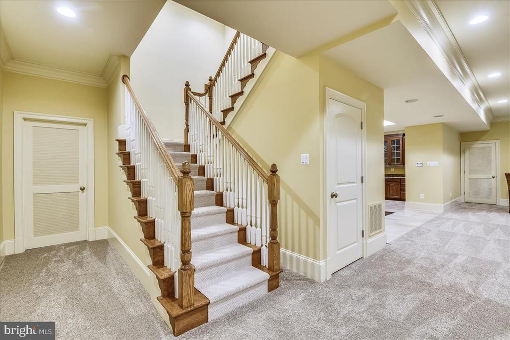 Back stair case into the Lower Level - 12056 OPEN RUN RD, ELLICOTT CITY