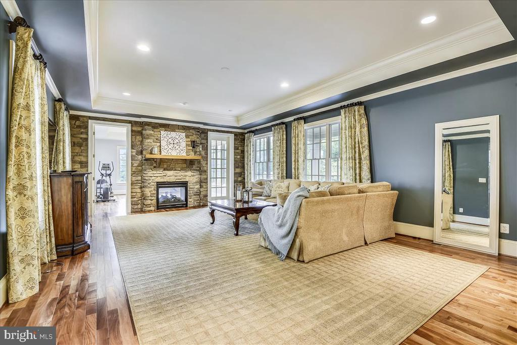 Wonderful tres ceiling in the main Family Room - 12056 OPEN RUN RD, ELLICOTT CITY