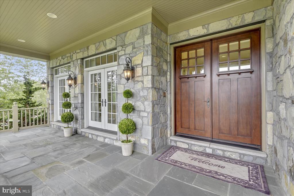 Spacious front patio to welcome guests - 12056 OPEN RUN RD, ELLICOTT CITY