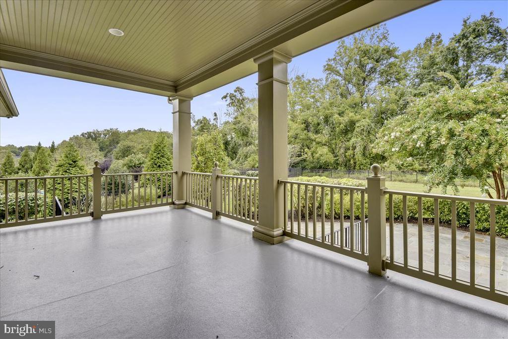 Fabulous outdoor space overlooks yard - 12056 OPEN RUN RD, ELLICOTT CITY