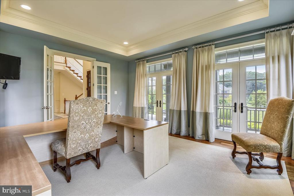 French doors to front patio from office - 12056 OPEN RUN RD, ELLICOTT CITY