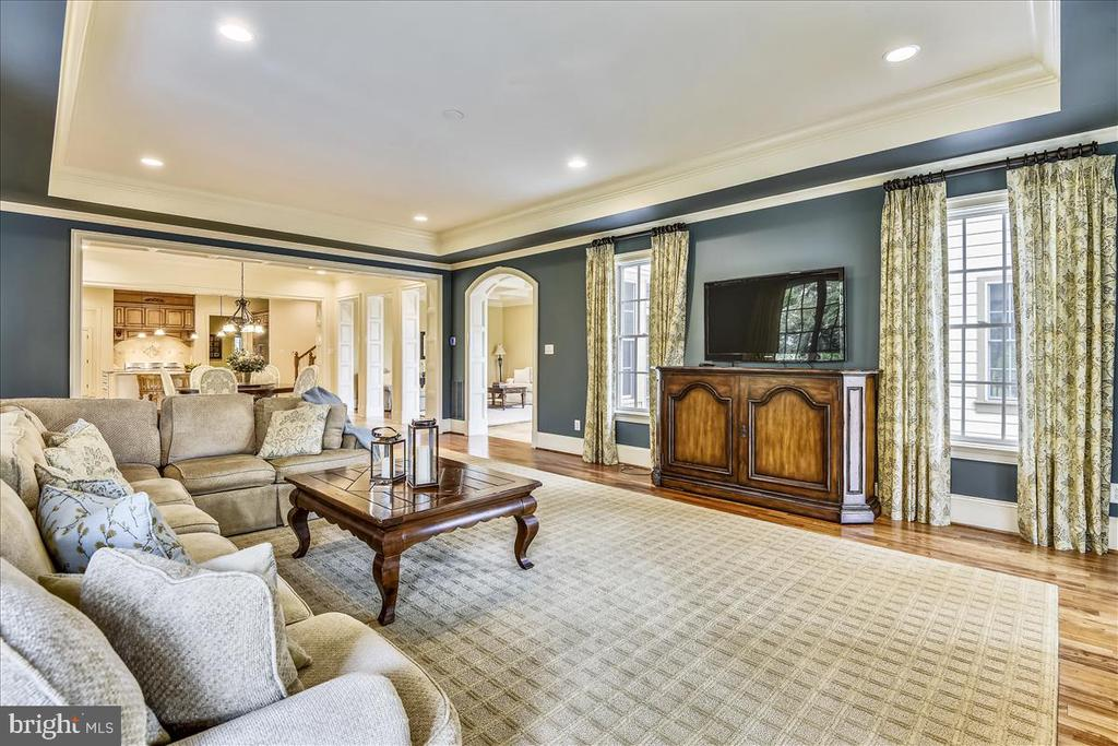 View of Family Room from Personal Gym - 12056 OPEN RUN RD, ELLICOTT CITY