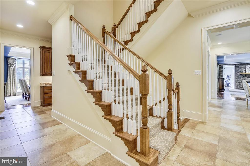 Back staircase into the Gourmet Kitchen - 12056 OPEN RUN RD, ELLICOTT CITY