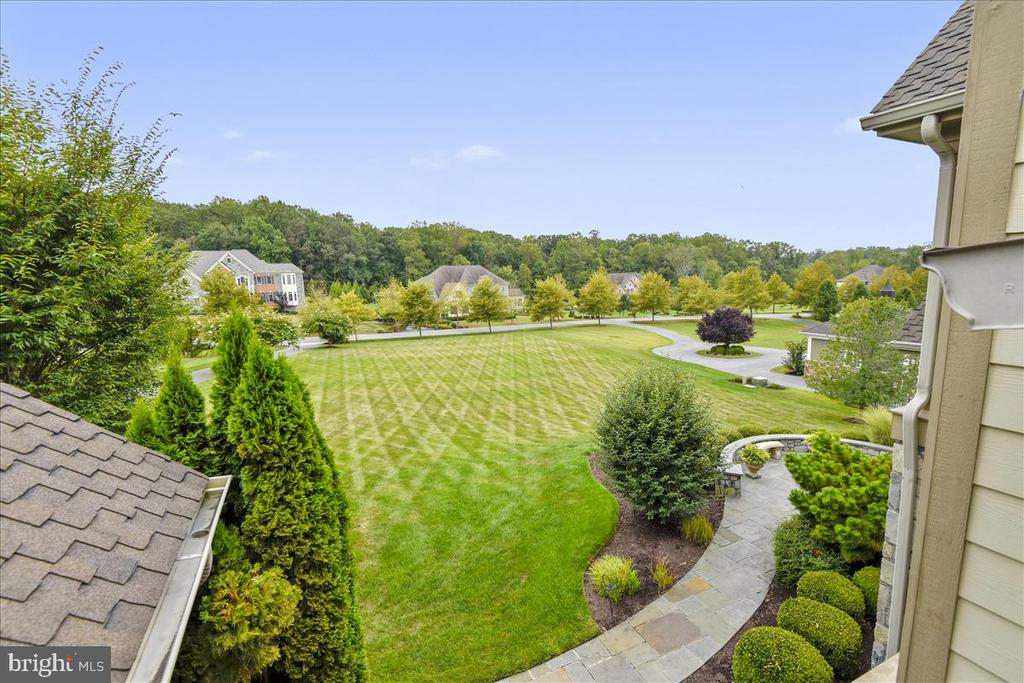 View of expansive front yard - 12056 OPEN RUN RD, ELLICOTT CITY