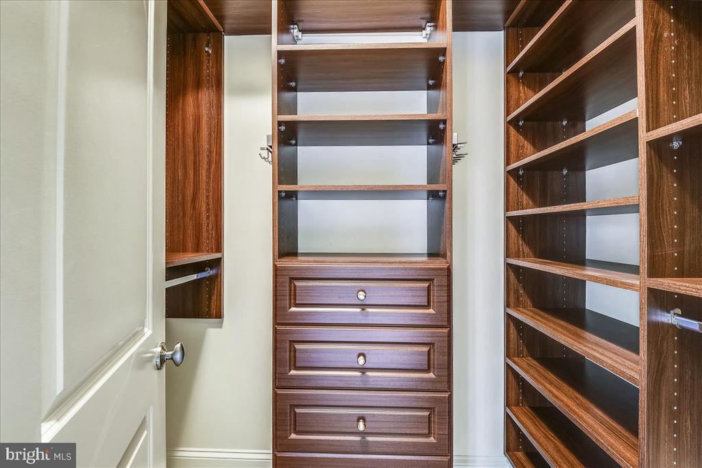 Gorgeous yet functional walk in closet in Master - 12056 OPEN RUN RD, ELLICOTT CITY