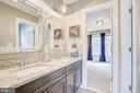 jack & jill full bath, connecting bedrooms #3 & #4 - 47771 BRAWNER PL, POTOMAC FALLS