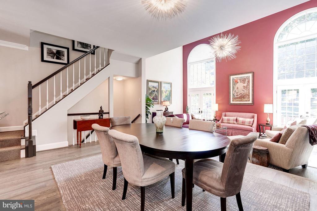 Open Floor Plan - Dining Area - 3624 WINFIELD LN NW, WASHINGTON