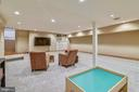 Lower level recreation room - 19937 EVERGREEN MILLS RD, LEESBURG