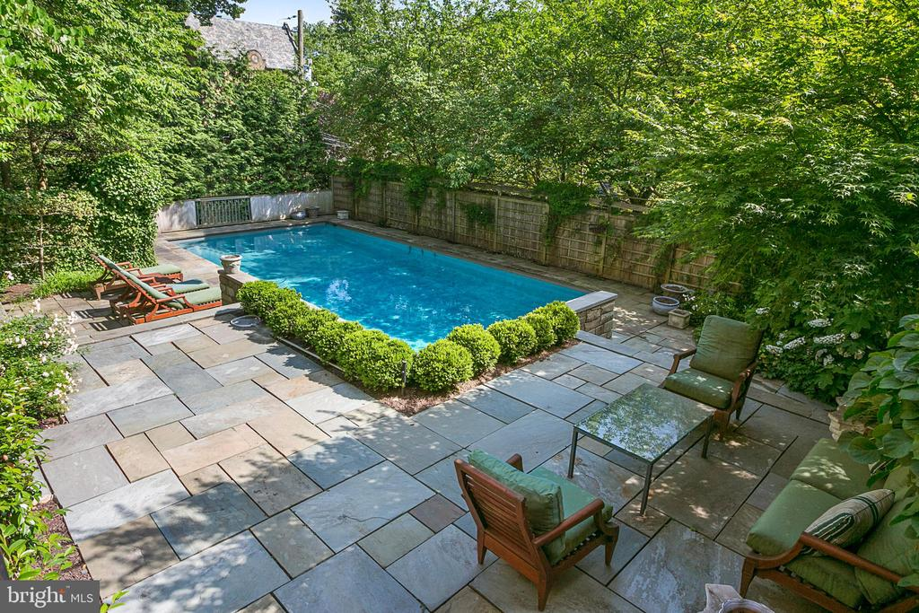 Rear Terrace and Pool - 2718 32ND ST NW, WASHINGTON