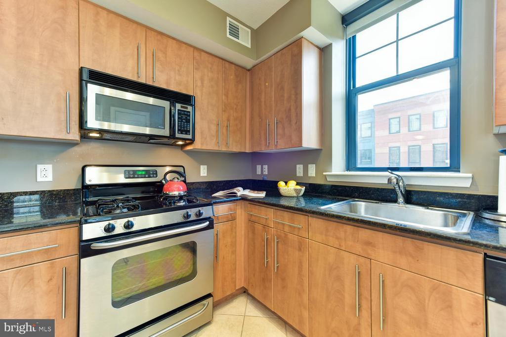 Stainless appliances and granite countertops. - 1021 N GARFIELD ST #410, ARLINGTON