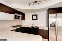 Caesarstone counters and Gamadecor cabinets. - 1466 HARVARD ST NW #2B, WASHINGTON