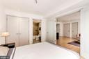 Large closet and en suite bath. - 1466 HARVARD ST NW #2B, WASHINGTON