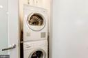 Bosch front load washer + dryer in bath. - 1466 HARVARD ST NW #2B, WASHINGTON