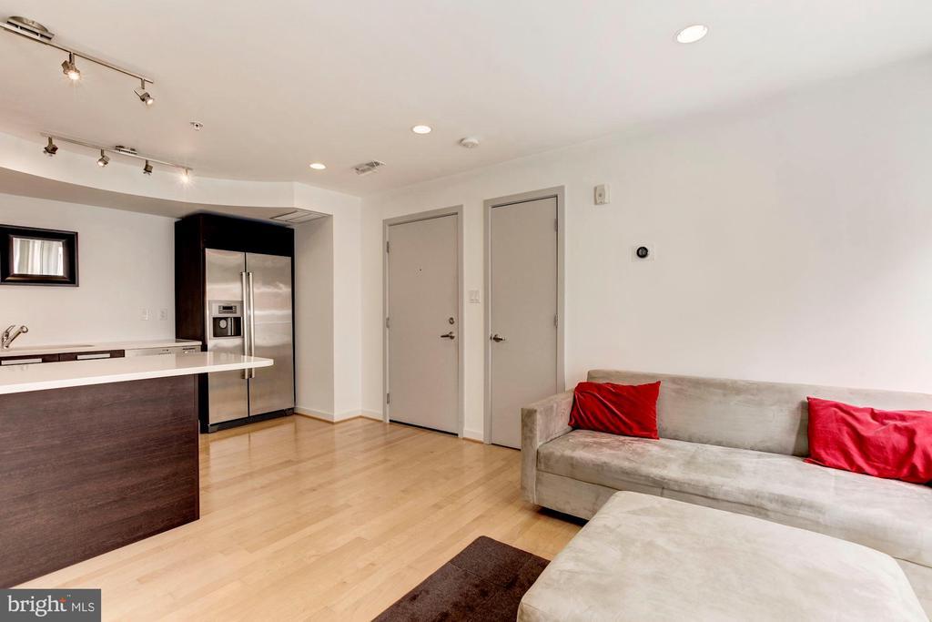 Main entry and coat closet. - 1466 HARVARD ST NW #2B, WASHINGTON
