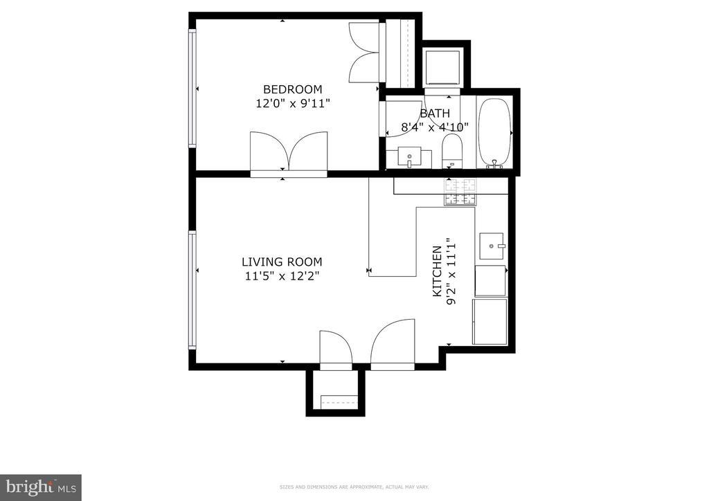 Floor Plan + do not miss the 3D tour. - 1466 HARVARD ST NW #2B, WASHINGTON