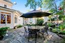 Pretty patio overlooks koi pond - 121 TREEHAVEN ST, GAITHERSBURG