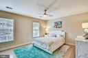 Spacious second bedroom with lighted ceiling fan - 121 TREEHAVEN ST, GAITHERSBURG