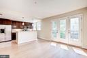 Large South + West facing living space. - 2201 2ND ST NW #21, WASHINGTON