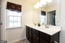Master bathroom with dual sinks - 5925 SHEPHERD LN, FREDERICK