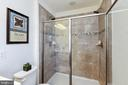 Ceramic, walk in shower with dual shower heads - 5925 SHEPHERD LN, FREDERICK