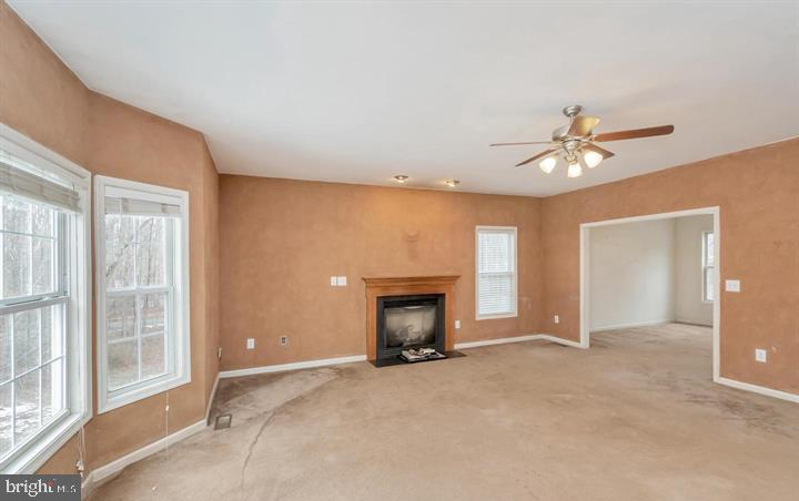 LIVING ROOM W/FIREPLACE - 30322 STONEWALL DR, LOCUST GROVE