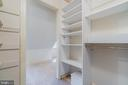 Master bedroom walk-in closet w/loads of storage - 3276 HISTORY DR, OAKTON
