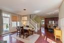 Great dining area off the kitchen and family room - 23337 MORNING WALK DR, BRAMBLETON