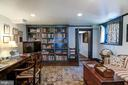 Lower Level Library/ Study w fpl and built-ins - 7508 BELMONT RD, SPOTSYLVANIA