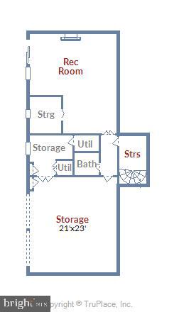 Lower Level Floor Plan - 9711 MEADOWLARK RD, VIENNA