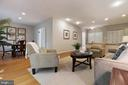 Welcoming living room - 11715 BLUE SMOKE TRL, RESTON