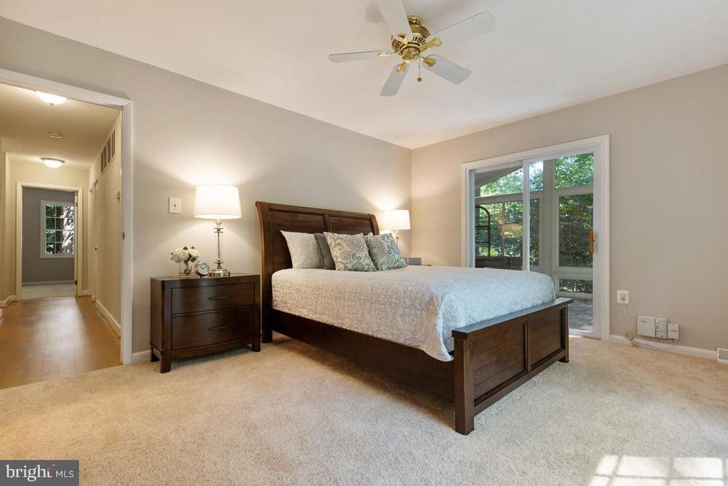Master bedroom with adjacent sun room with hot tub - 11715 BLUE SMOKE TRL, RESTON