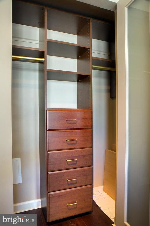 Master Bedroom Closet with Built-ins - 601 PENNSYLVANIA AVE NW #1003N, WASHINGTON