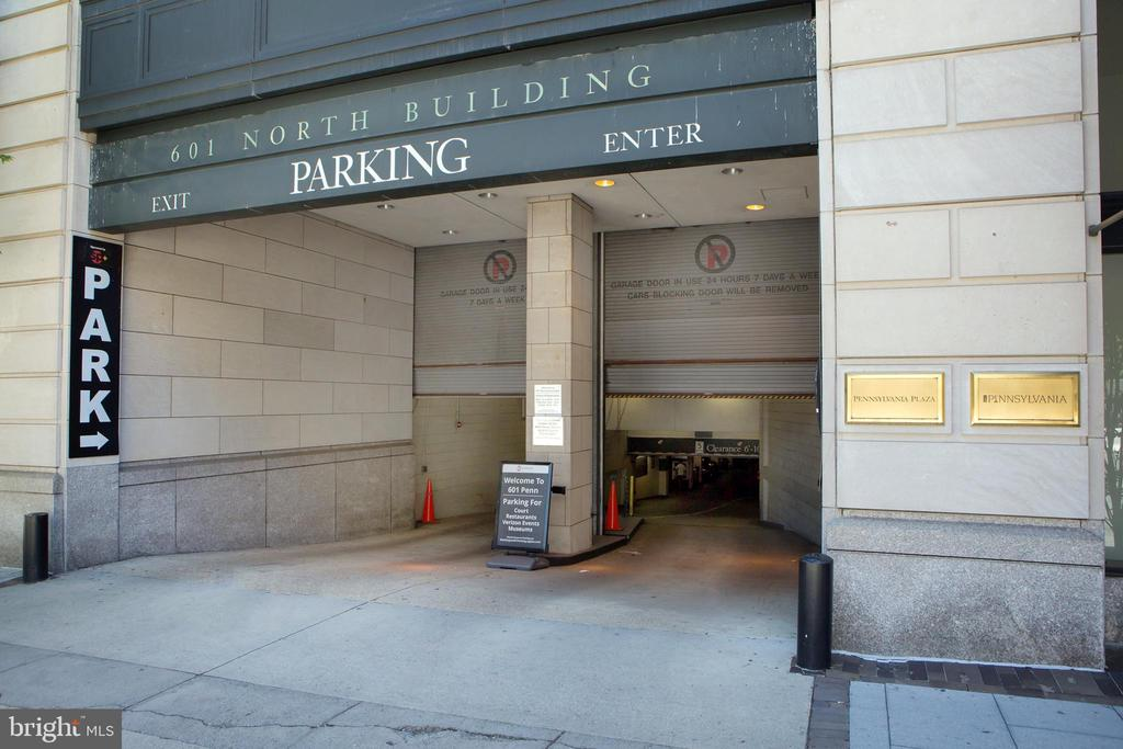 Parking Garage Entry from 6th Street NW - 601 PENNSYLVANIA AVE NW #1003N, WASHINGTON