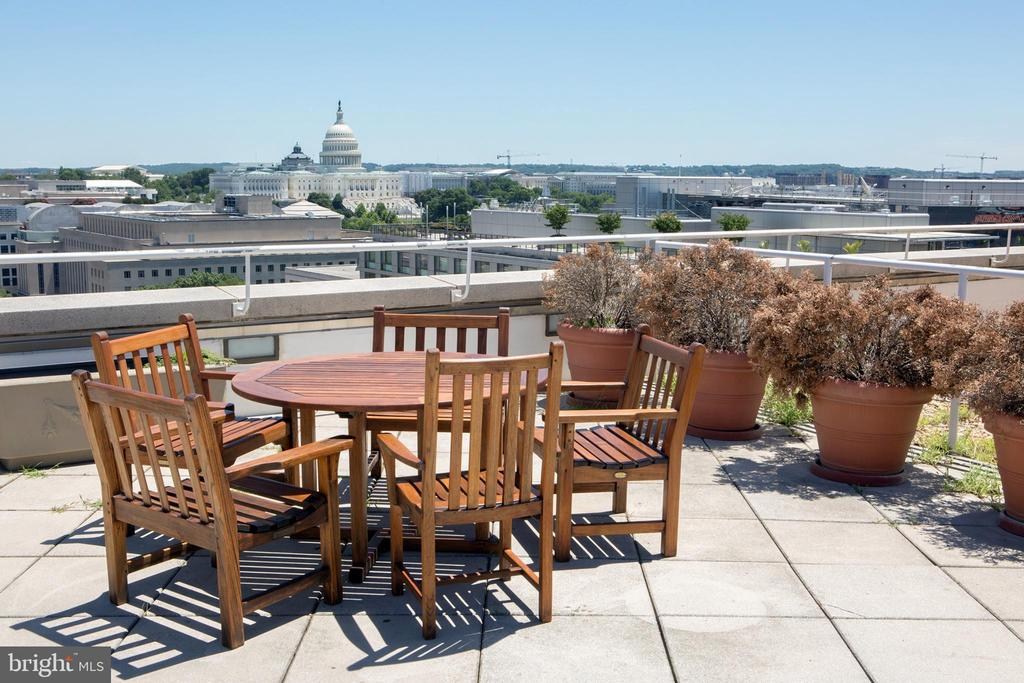 Residential Roof Deck US Capitol View - 601 PENNSYLVANIA AVE NW #1003N, WASHINGTON