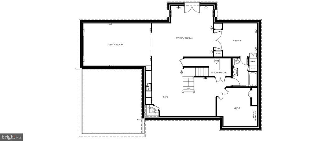 Lower Level Floor Plan - 43535 FIRESTONE PL, LEESBURG
