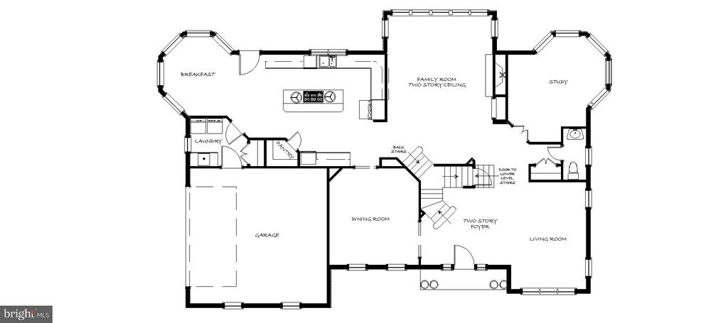 Main Level Floor Plan - 43535 FIRESTONE PL, LEESBURG