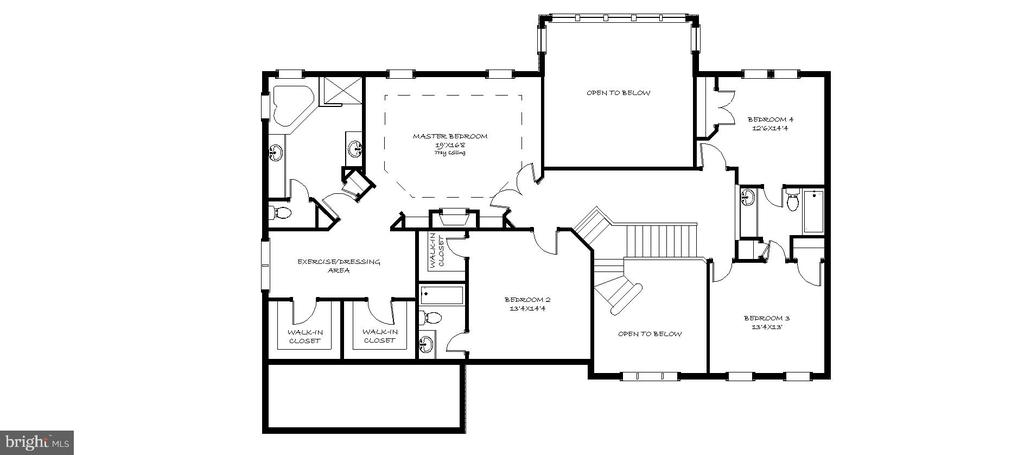 Second Level Floor Plan - 43535 FIRESTONE PL, LEESBURG