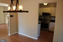 Dining room off kitchen - 49 MEADOWOOD DR, STAFFORD