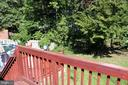 Backyard view from deck - 49 MEADOWOOD DR, STAFFORD