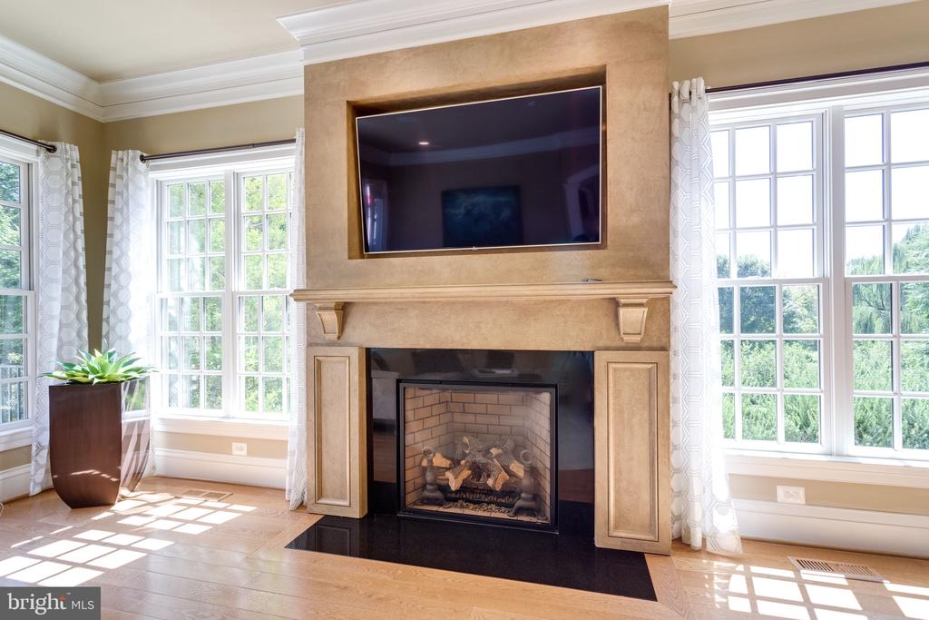 Great Room Features a Warm & Inviting Fireplace - 2479 OAKTON HILLS DR, OAKTON