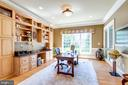 Main Level Study with Built-in Cabinetry - 2479 OAKTON HILLS DR, OAKTON