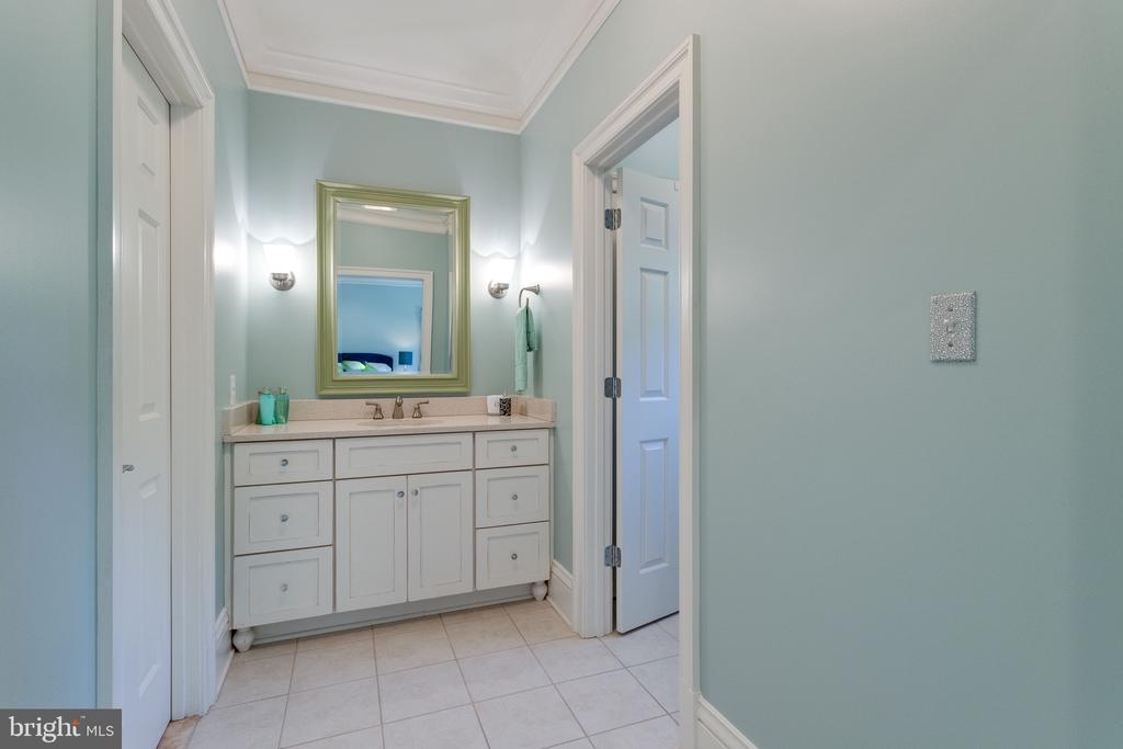 Dressing Area w Adjacent Bath & Walk-in Closet - 2479 OAKTON HILLS DR, OAKTON